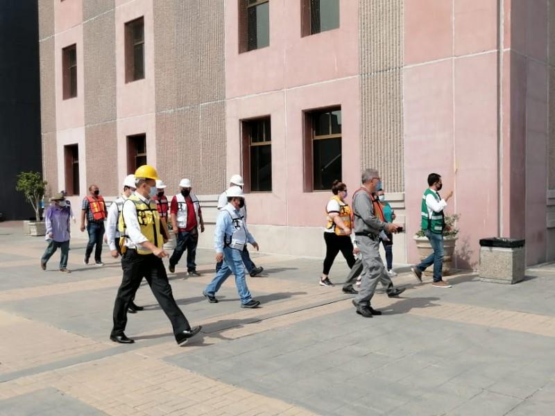 Realizan simulacro de sismo en Centro de Gobierno