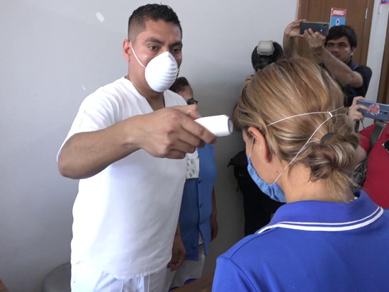 Realizan simulacro por coronavirus en Hospital Infantil