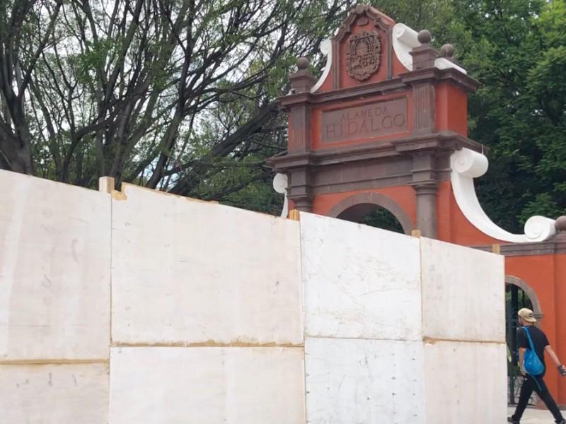 Realizan una obra más en la Alameda Hidalgo