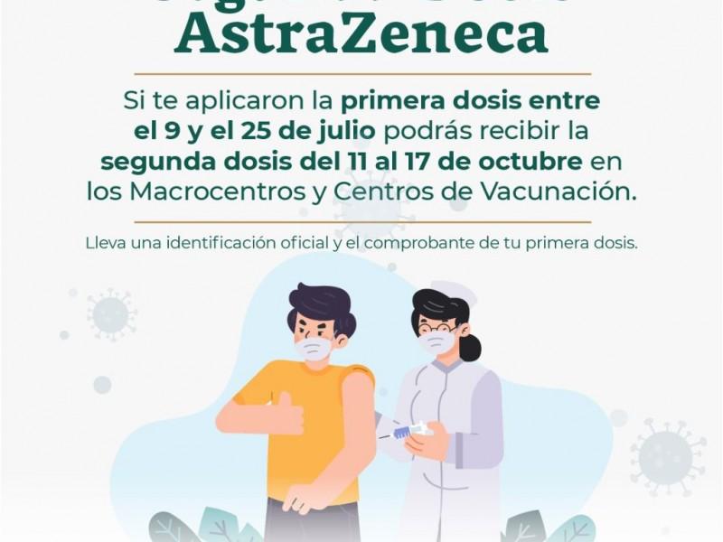 Reanudan aplicación de segunda dosis AstraZeneca en Chiapas