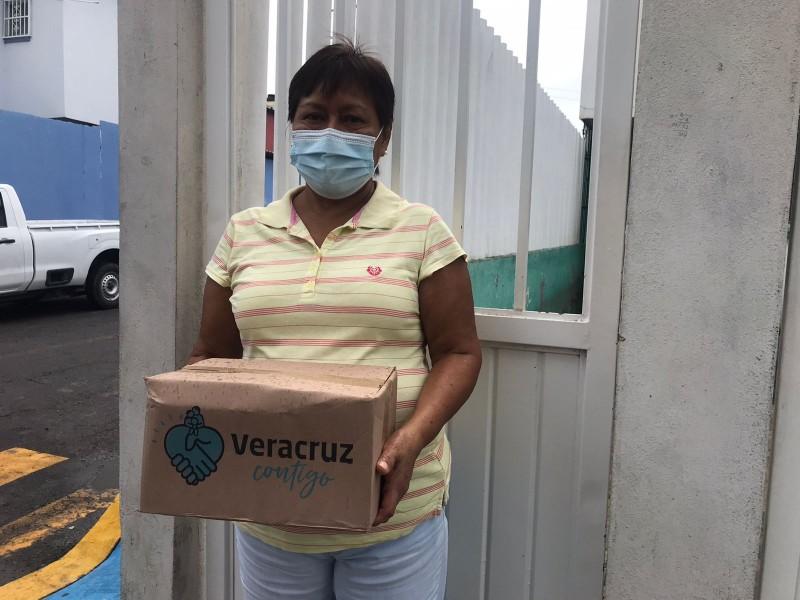 Reanudan entrega de programa alimentario en Veracruz