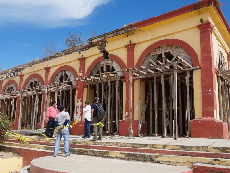 Reanudan reconstrucción del Palacio Municipal de Unión Hidalgo