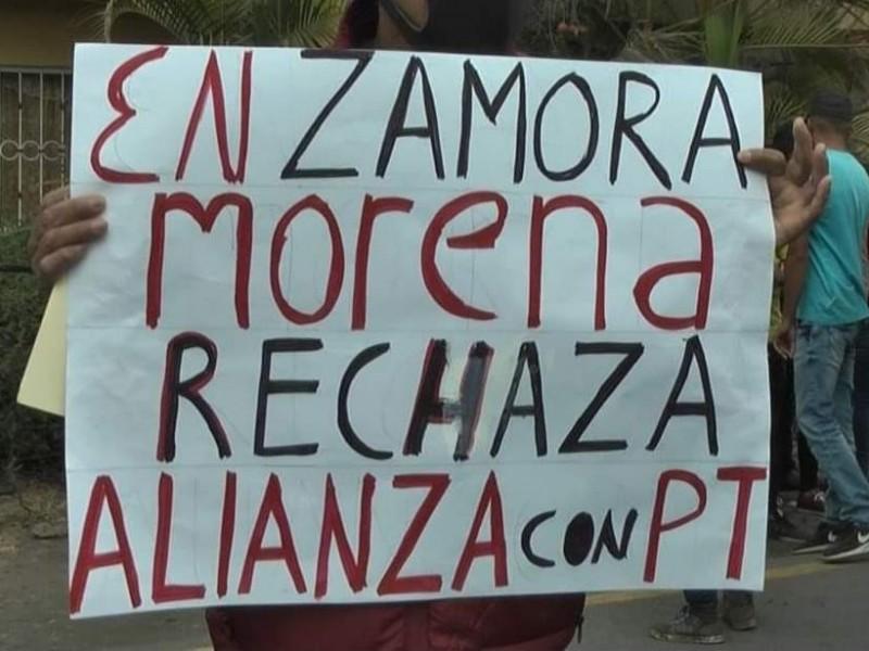 Rechaza MORENA alianza con PT para alcaldía de Zamora