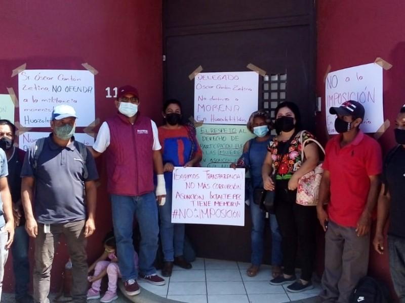 Rechazan candidatura de MORENA en Ixtaltepec; acusan imposiciones