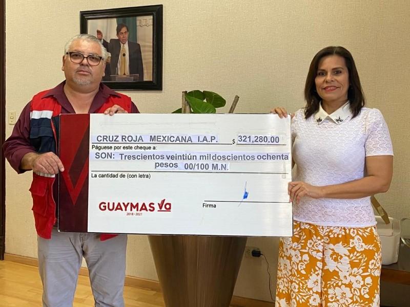 Recibe Cruz Roja donativo