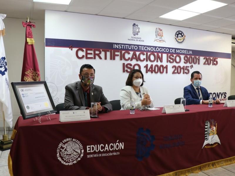 Recibe Tecnológico de Morelia certificados de calidad