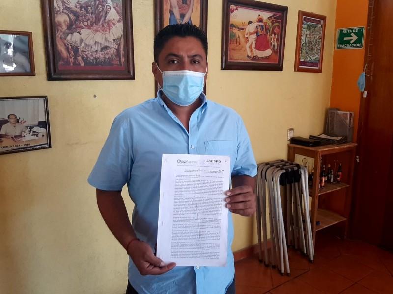 Recibe toma de nota nuevo representante sindical del ayuntamiento; Tehuantepec