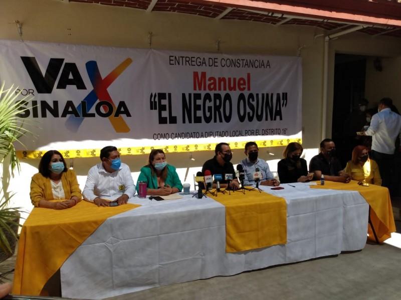 Reciben Manuel Osuna y Agustín Espinoza constancias como candidatos