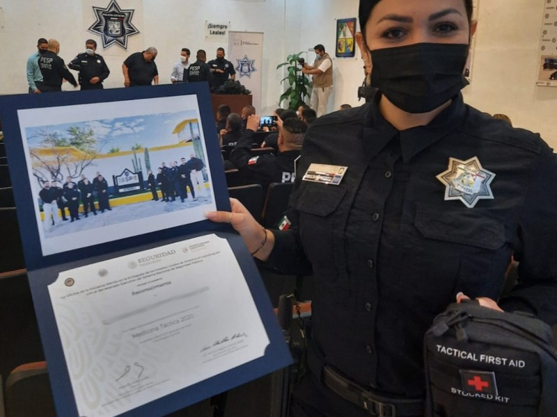 Reciben policías estatales curso de medicina táctica