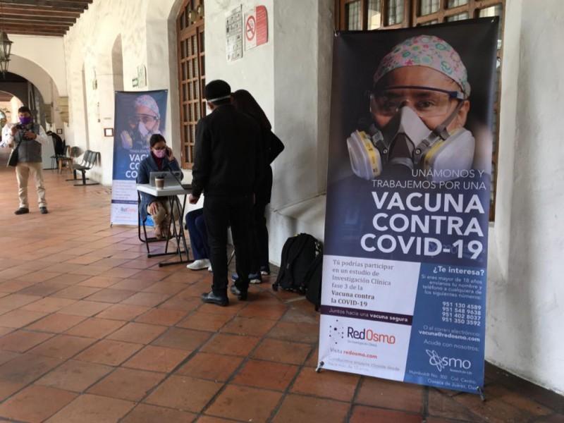 Reclutamiento para voluntarios de vacunas contra Covid-19 en Oaxaca