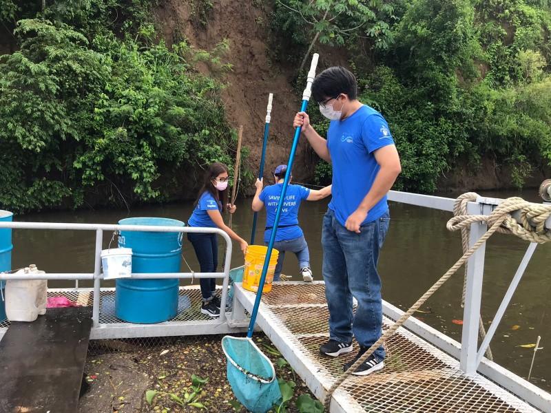 Recolectan casi 3 toneladas de basura en río Jamapa