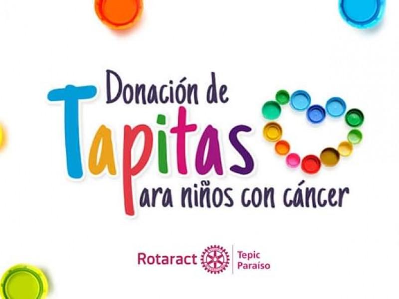 Recolectan tapitas para ayudar a niños con cáncer