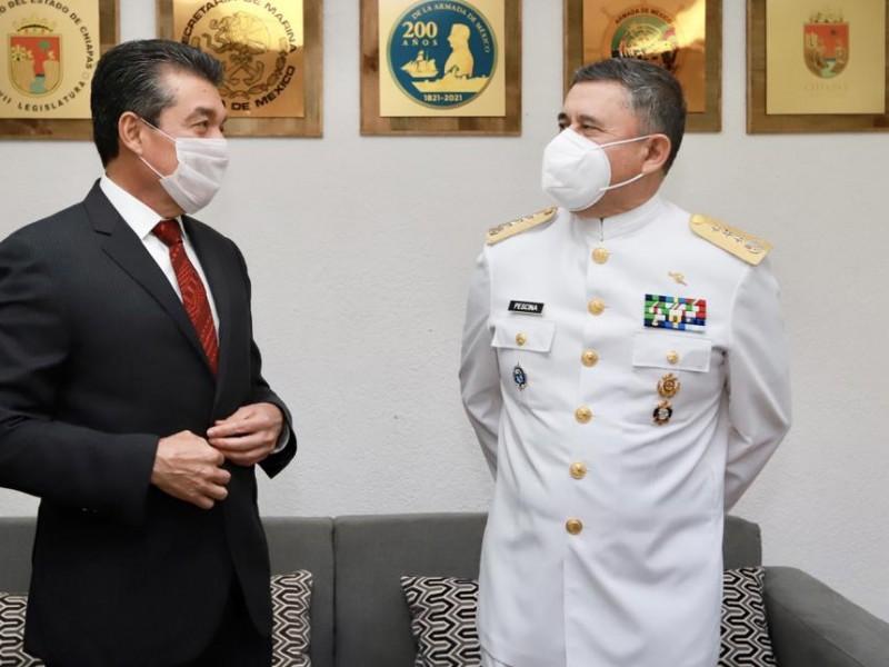 Reconoce Escandón Cadenas labor de la Marina Armada de México