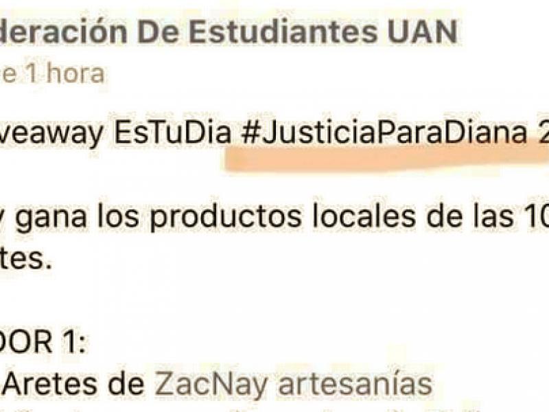 Reconoce FEUAN uso inadecuado del hashtag #JusticiaParaDiana