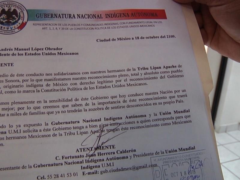 Reconoce Gobierno Federal a Tribu Lipan Apache