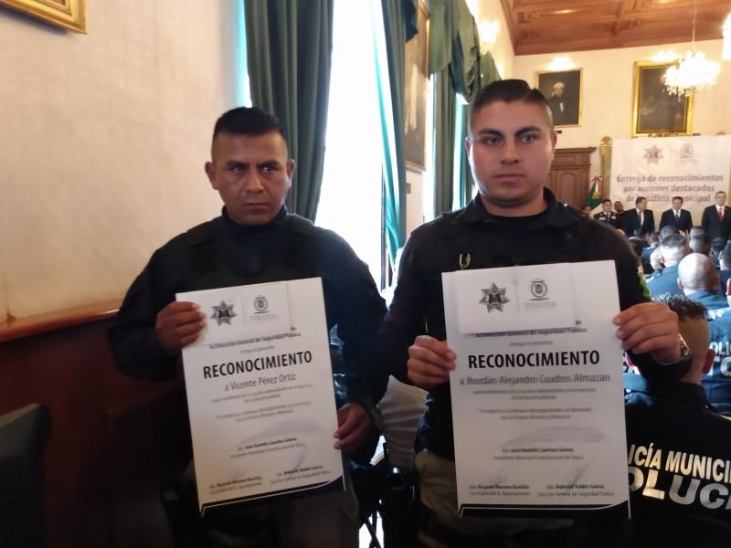 Reconocen la labor de policías municipales de Toluca