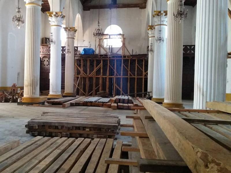 Reconstrucción de templos en SCLC avanza lento