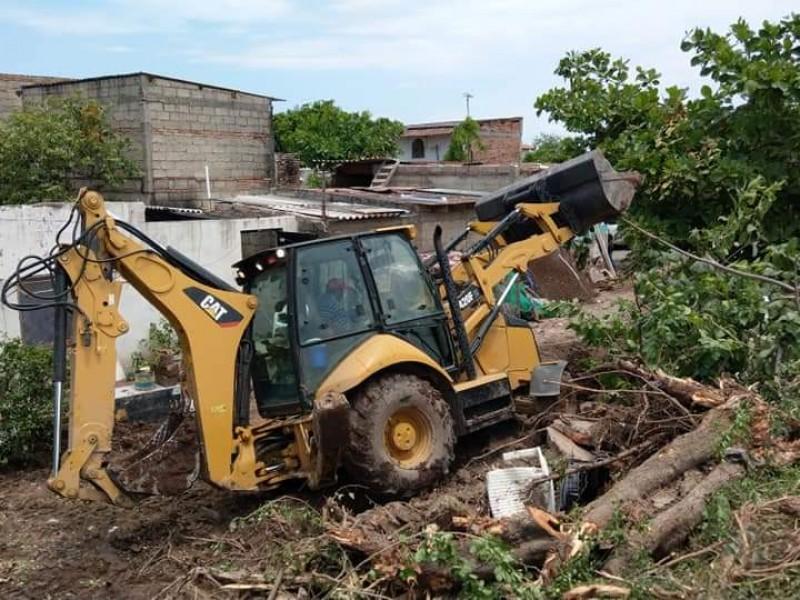 Reconstruyen dren pluvial en bordo de Tuxpan para evitar inundaciones