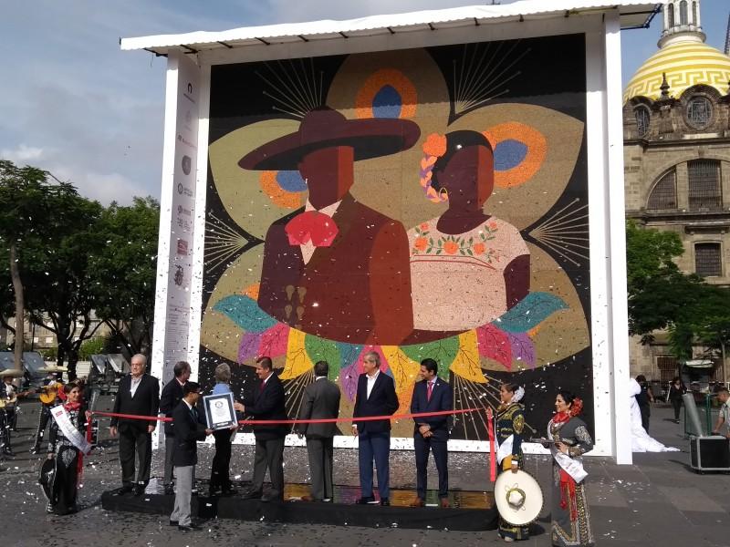 Récord Guinness por mosaico más grande del mundo