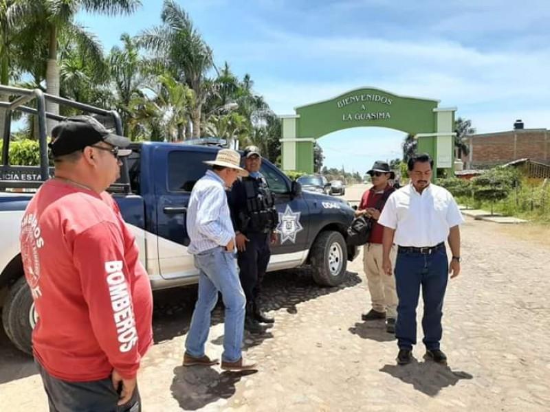 Recorren autoridades La Guásima, comunidad en cuarentena