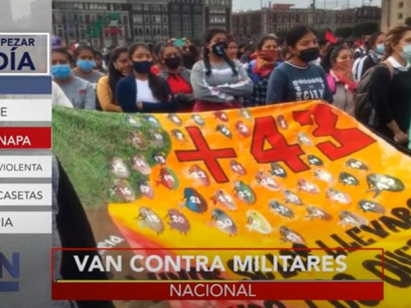 Recuerdan a los 43 de Ayotzinapa a 6 años