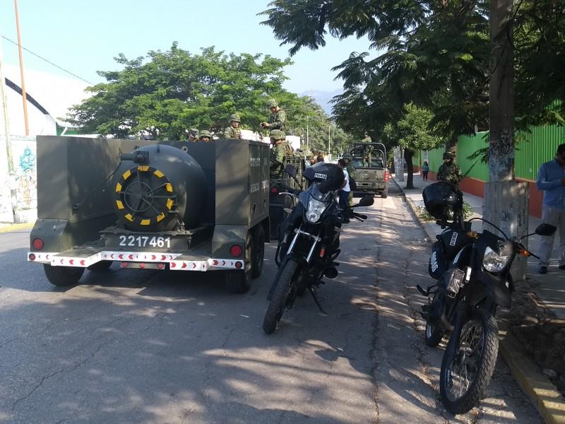 Recuperan artefactos explosivos de la vía pública