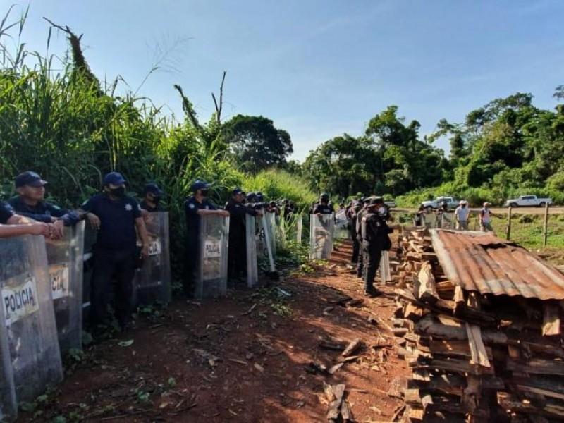 Recuperan autoridades 105 hectáreas invadidas
