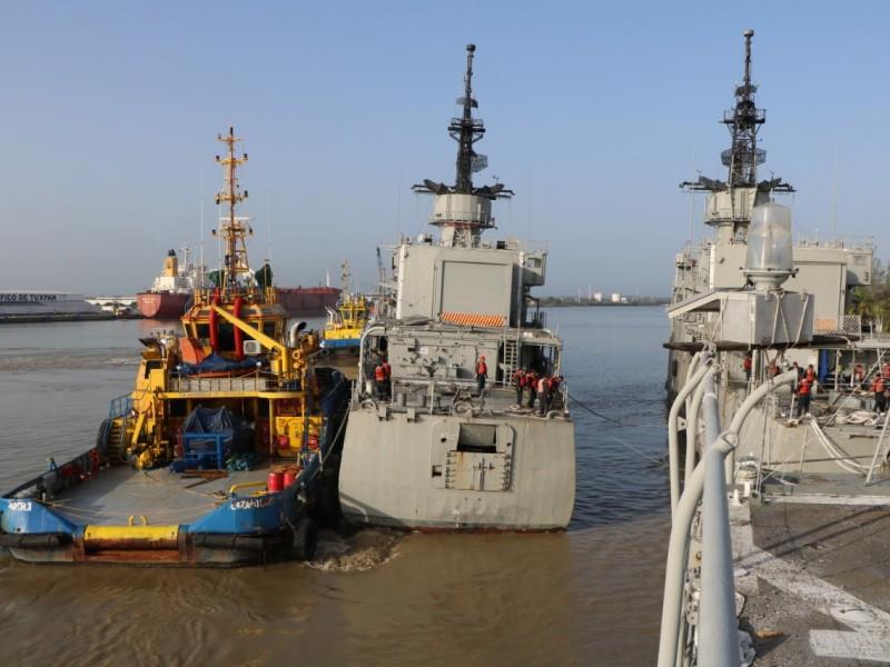 Recuperan embarcaciones fondeadas en el Pantepec
