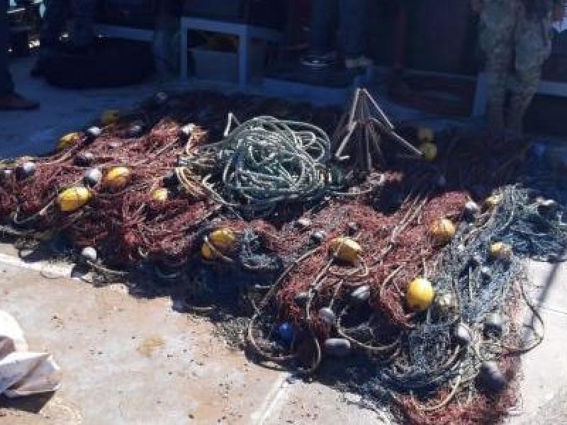 Recuperan redes ilegales en el Alto Golfo