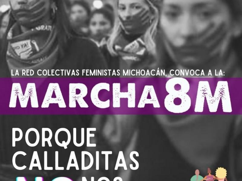 Red de colectivas alistan marcha por el 8M