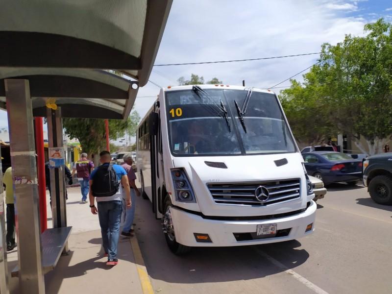 Reduce a un 60% transporte urbano en Guaymas y Empalme