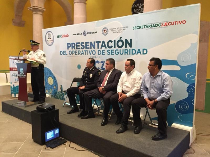 Reforzarán seguridad por Festival Cultural Zacatecas