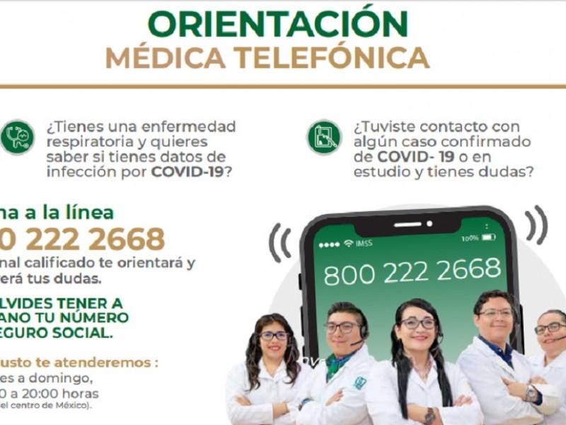 Refuerza el IMSS las consultas telefónicas para atender Covid-19