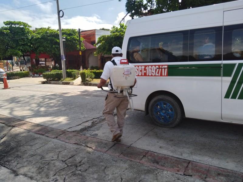 Refuerzan medidas preventivas en Chiapa de Corzo.