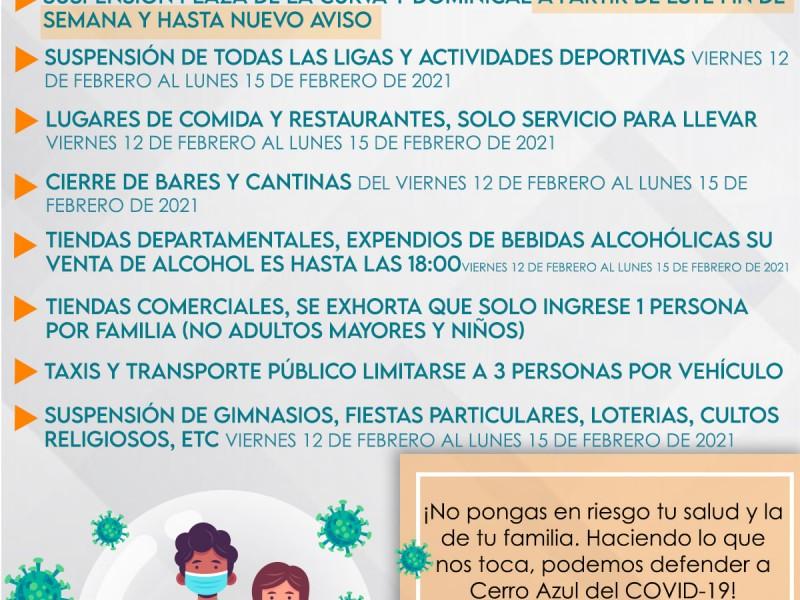 Refuerzan medidas sanitarias en Cerro Azul