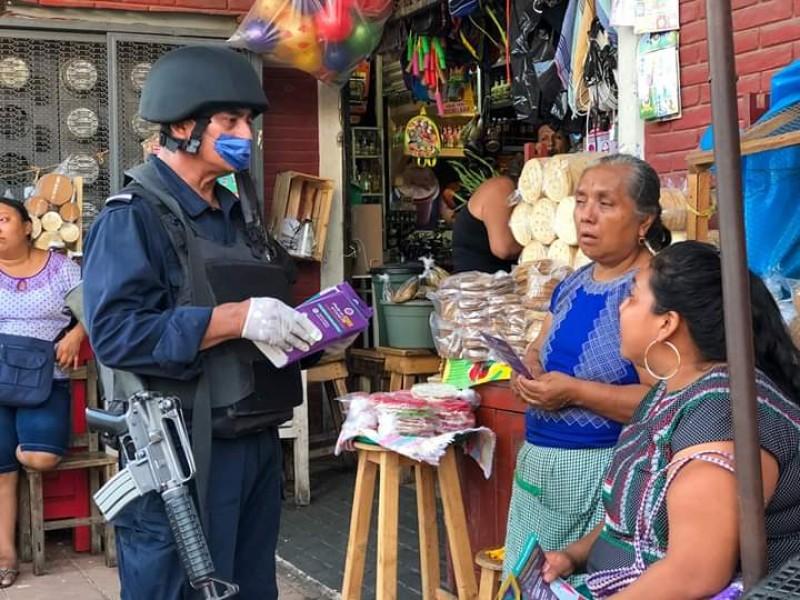 Refuerzan medidas sanitarias en Tehuantepec por Covid-19