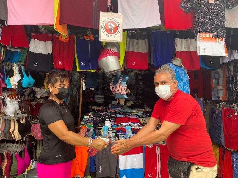 Refuerzan medidas sanitarias unión de comerciantes fijos y semi fijos