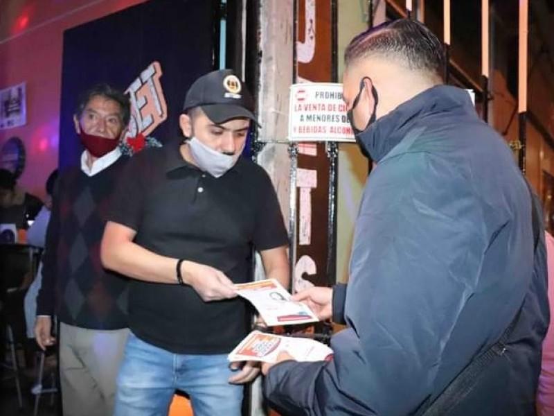 Refuerzan operativos de revisión a comercios por COVID-19 en Zamora