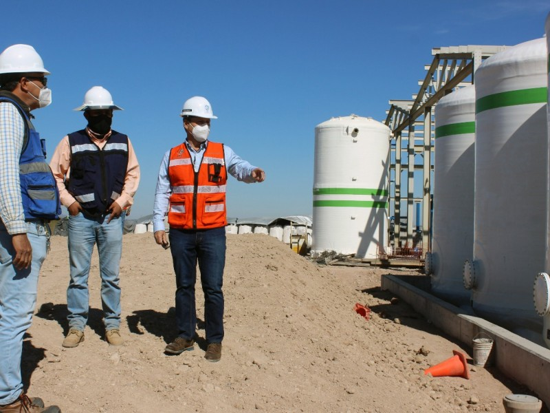 Registra el 77 por ciento de avance la construcción de la planta desalinizadora