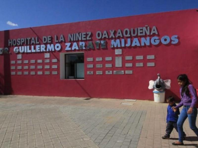 Registra Hospital de la Niñez Oaxaqueña repunte de casos Covid-19