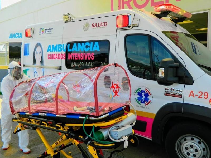 Registra Michoacán, 450 nuevos casos de Covid19 este lunes