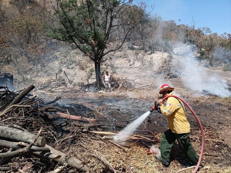 Combaten 6 incendios forestales simultáneos alrededor del Área Metropolitana Guadalajara