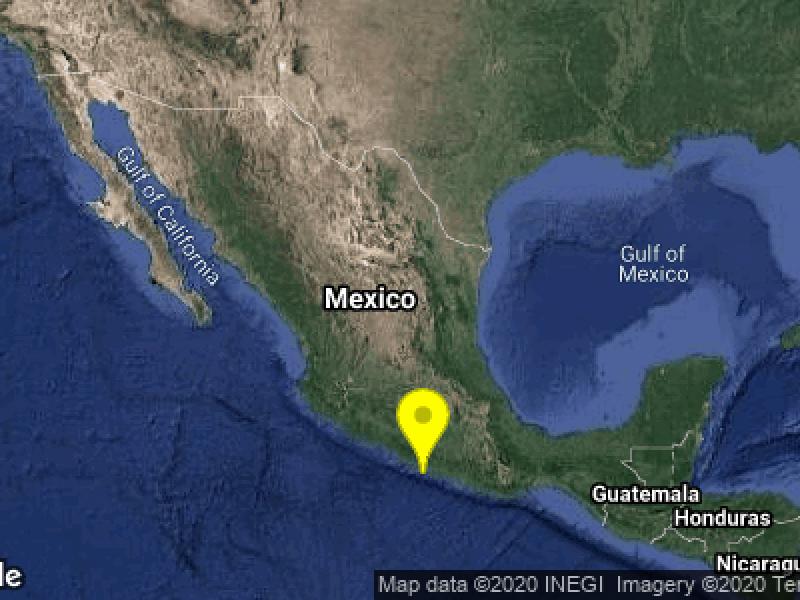 Registran sismo en Guerrero