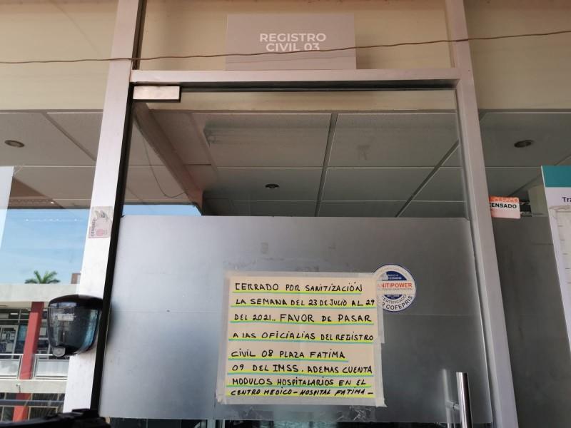 Registro Civil 03 permanecerá cerrado hasta el 29 de julio
