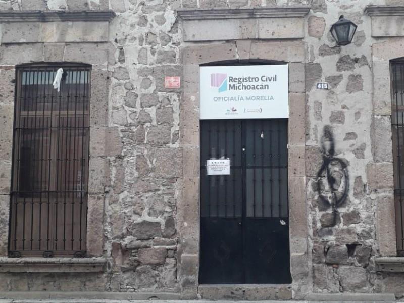 Registro Civil en Morelia atenderá de acuerdo a trámite