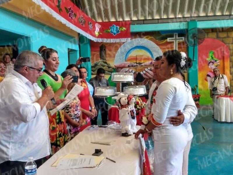 Registro Civil y SETSHA 003 realizan bodas colectivas