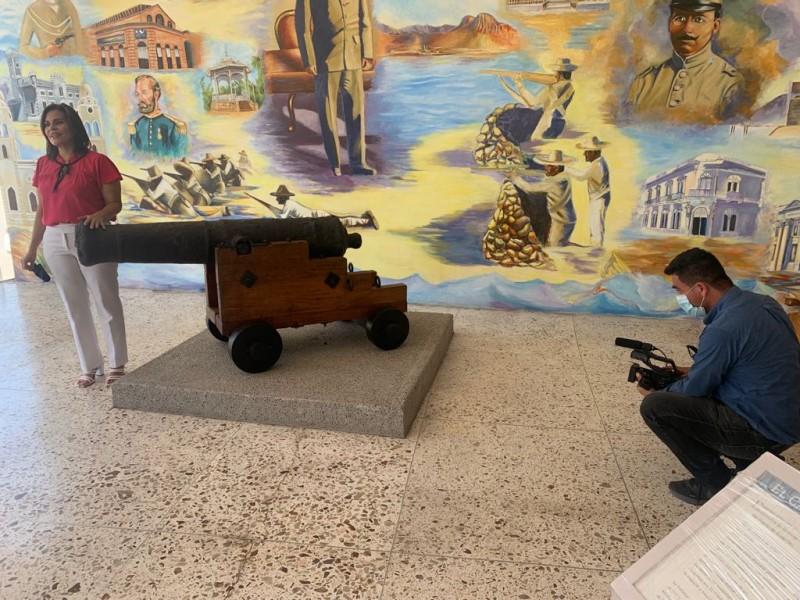 Regresa a Guaymas cañón de artillería del siglo XVIII