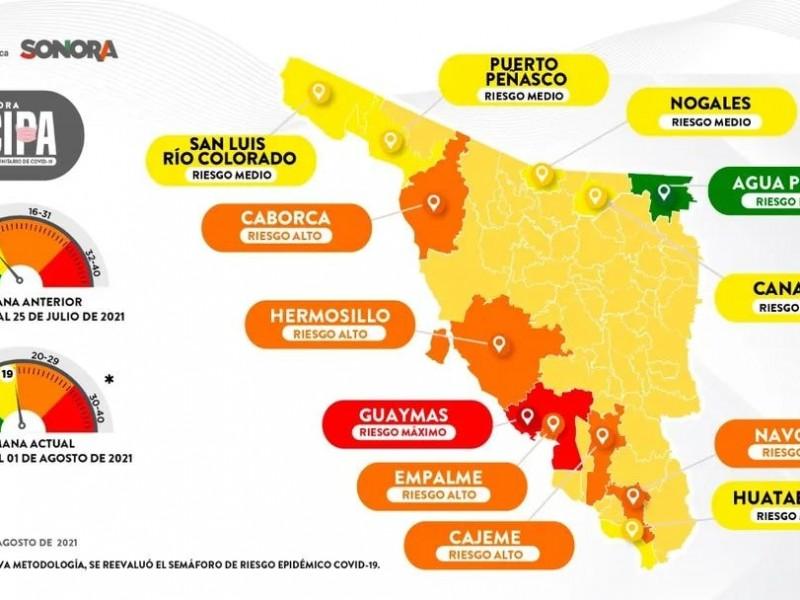Regresa Nogales a semáforo amarillo por casos de covid