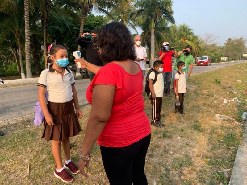 Regresan clases presenciales en Campeche