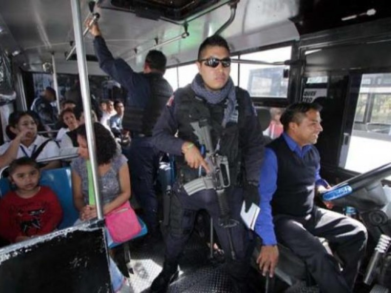 Regresan operativos a transporte público tras incremento de asaltos